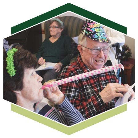Assisted Living residents enjoy New Year's celebrations